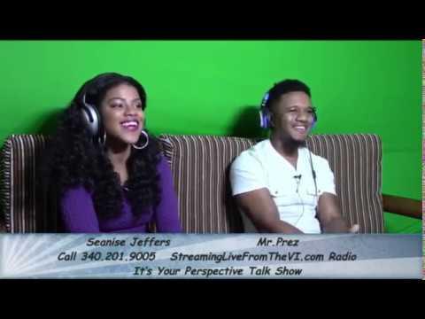 Virgin Islands Artist Seanise Jeffers & Music Producer Mr.Prez  1.11.17