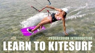 Learn To Kiteboard - Progression Kiteboarding Beginner