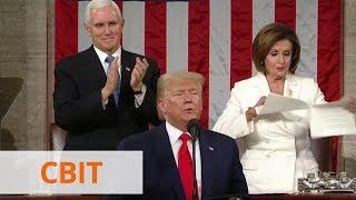 трамп не пожал руку Пелоси - она порвала текст его обращения к нации