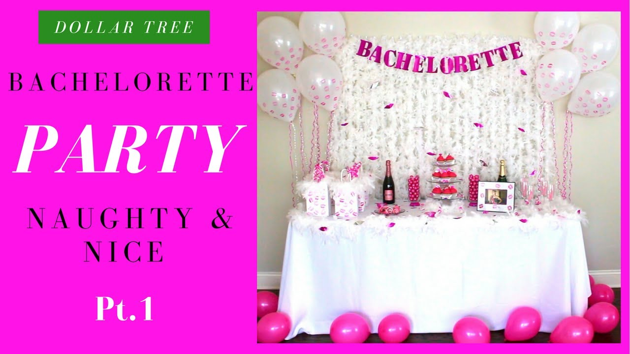 DIY Bachelorette Decorations (Naughty & Nice Pt.1) - YouTube