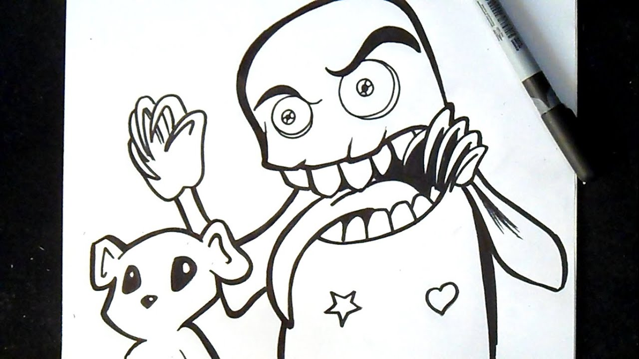 Cómo dibujar un Monstruo Graffiti - YouTube