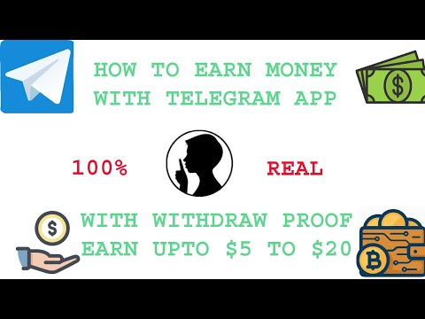How to earn money with Telegram app | Earn up to $5 to $20 | With payment proof | MOBI TECH LITE