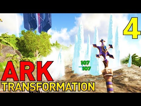 [4] The Wand Of Freezing Wind!!! (Let's Play ARK Transformation Multiplayer)