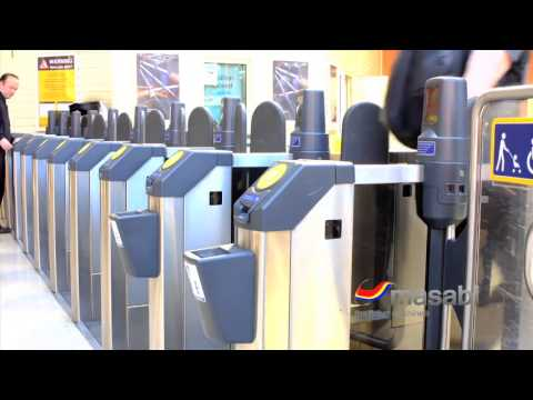 Automated Fare Gates able to scan Masabi mobile barcode tickets as fast as smartcards