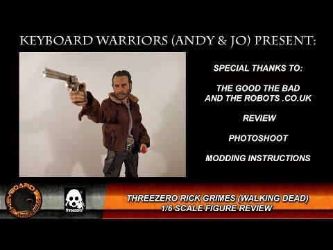 Threezero Rick Grimes 1/6 Scale Review / Photoshoot / Modding
