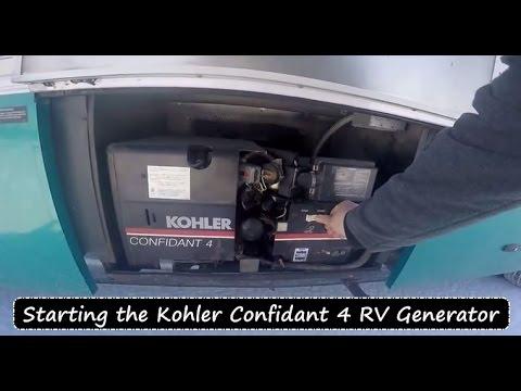 Starting the Kohler Confidant 4 RV Generator - YouTube