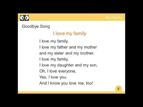 ENGLISH KEY I LOVE MY FAMILY SONG