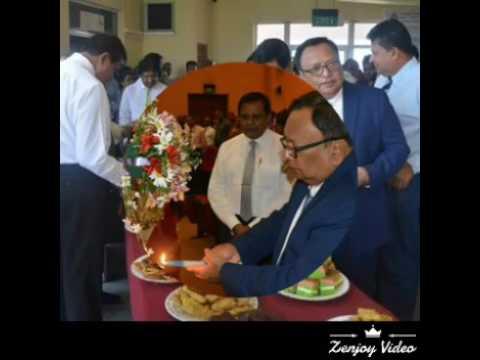 Hon. M H Abdul Haleem Minister of Post, Postal services & Mulim Religious Affairs.