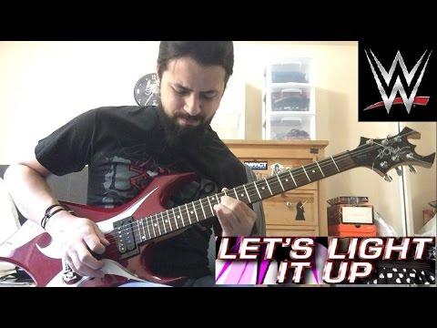 AJ Lee Lets Light It Up WWE theme guitar