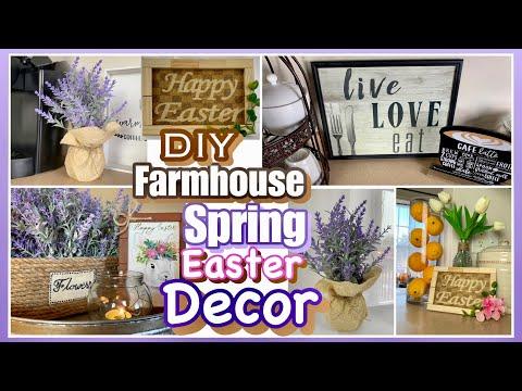 DIY SPRING Easter FARMHOUSE DOLLAR TREE Decor