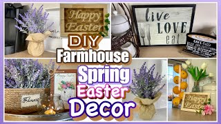 DIY SPRING Easter FARMHOUSE DOLLAR TREE Decor