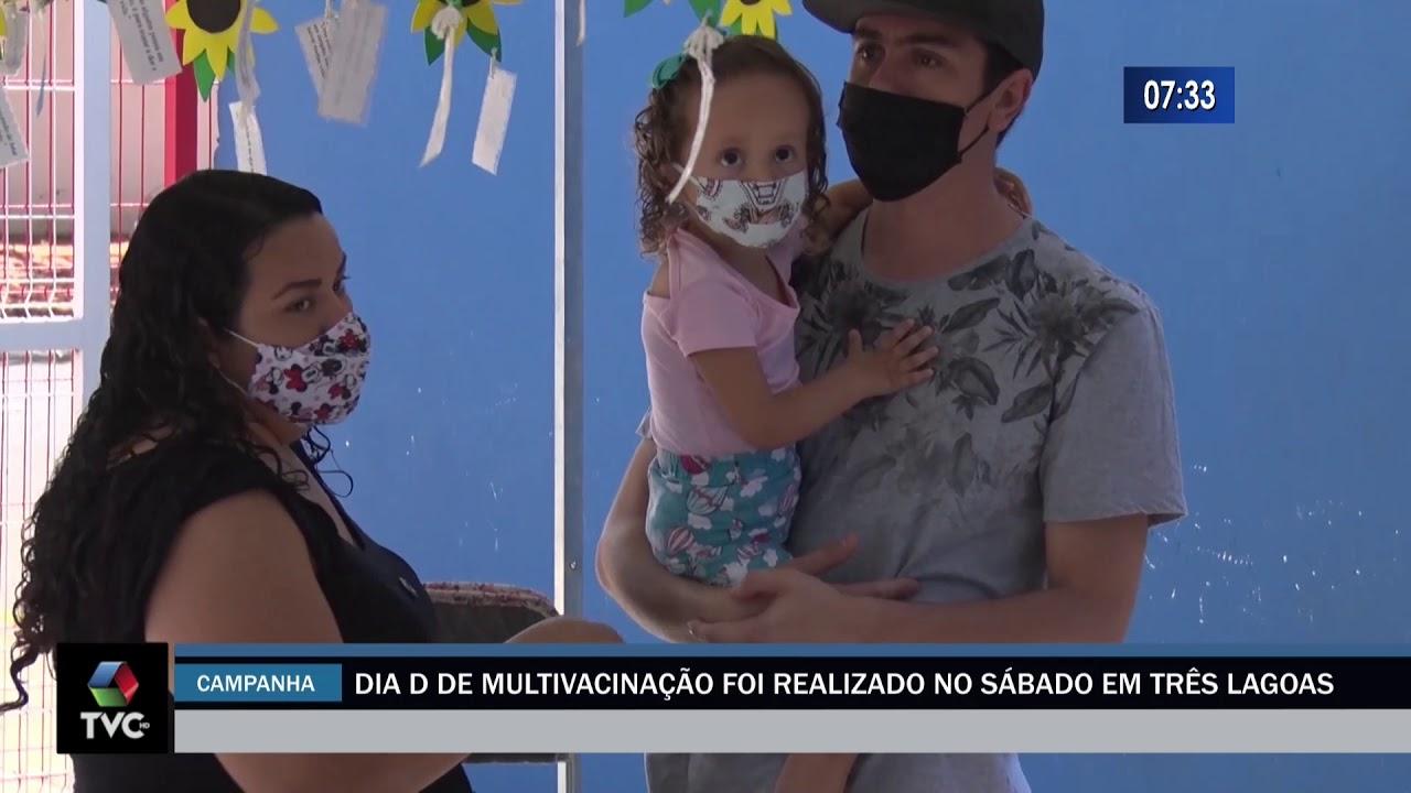 Dia D de multivacinação foi realizado no sábado em Três Lagoas