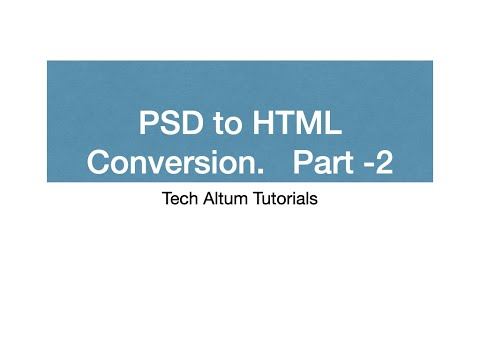 PSD To HTML Conversion Part-2   12 Grid PSD   IDDO