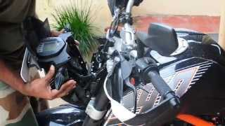 How to Replace Headlight Bulb and Adjust Beam on KTM Duke 200 390