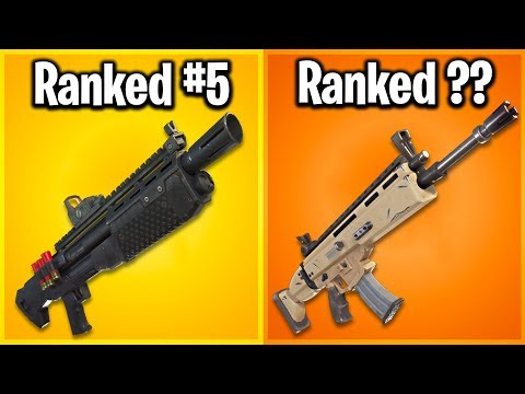 RANKING EVERY LEGENDARY WEAPON IN FORTNITE FROM WORST TO BEST!