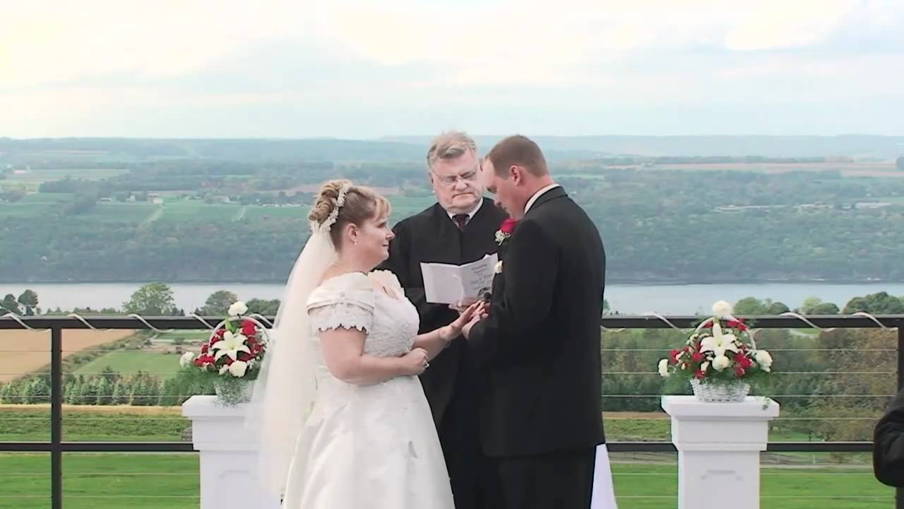 Logan Ridge Estates Seneca Lake Weddings Quick Look At Sandy S Wedding Vows