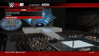WWE 2K16 Arena Creation : WWF Smackdown 1999 - 2001 (PS4)