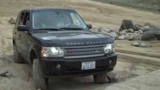 Having Fun In a Range Rover Supercharged at Land Rover Pasadena's Off-Road Event