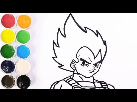 Como Dibujar Y Colorear A VEGETA - Dibujos Para Niños - Learn Colors / FunKeep