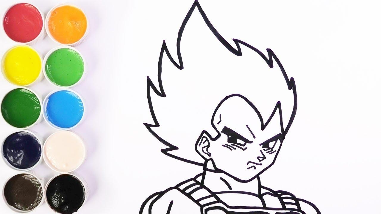 Como Dibujar Y Colorear A VEGETA