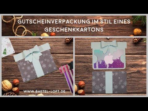 Gutscheinverpackung im Stil eines Geschenkkartons - Stampin'Up!
