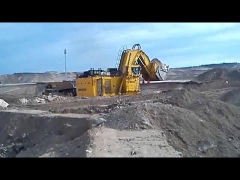 Komatsu PC 8000 Loading A CAT 793 At Kearl Oil Sands, Canada