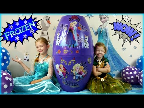 BIGGEST SURPRISE EGG Ever! FROZEN Surprise Toys Eggs Disney