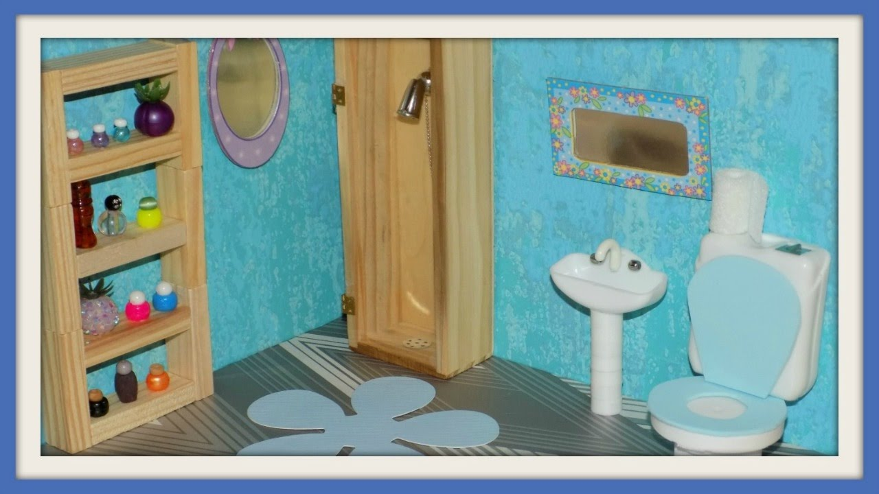 Diy Miniature Dollhouse Bathroom Youtube