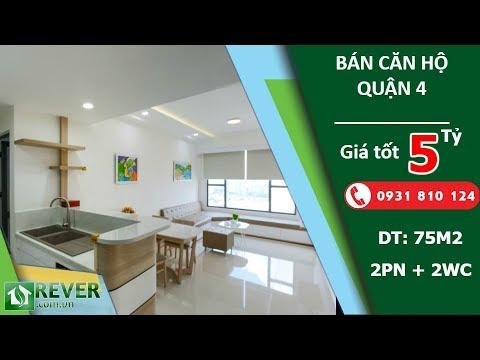 Bán căn hộ tầng cao River Gate Residence Quận 4, diện tích 75m2 với 2 phòng ngủ | Rever