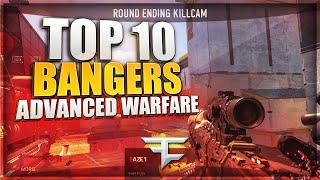 ADVANCED WARFARE: TOP 10 BANGERS #7 - FaZe Agony (Trickshots & Sniper Clips)