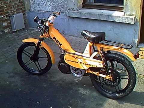 mbk orange mecanique motobecane mobylette scooter youtube. Black Bedroom Furniture Sets. Home Design Ideas