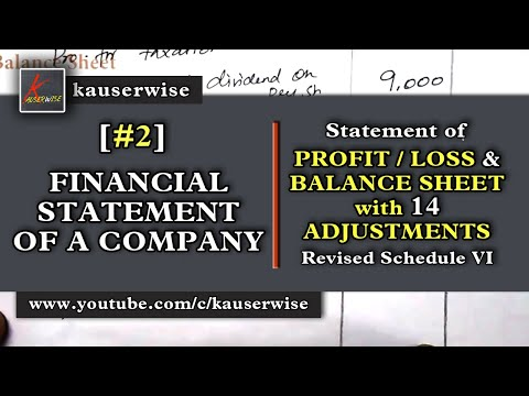 Company Final Accounts [SOLVED PROBLEM with 14 Adjustments] As per Revised Schedule VI :-kauserwise