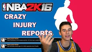 NBA 2K16 INJURY REPORTS COMPILATION! (FACECAM) | Josh Carson JC3