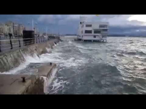 Efectos del viento en la Bahía de Santander