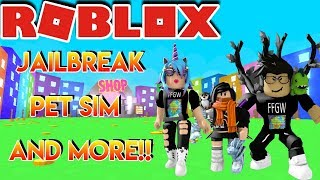 🌎🎮 Roblox | 🔴 Live Stream #142 | PLAYING JAILBREAK , PET SIM , AND MORE!!! 🎮 🌎