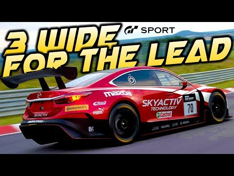 3 WIDE BATTLE FOR THE LEAD OF RACE AT BRAZIL! - Gran Turismo Sport