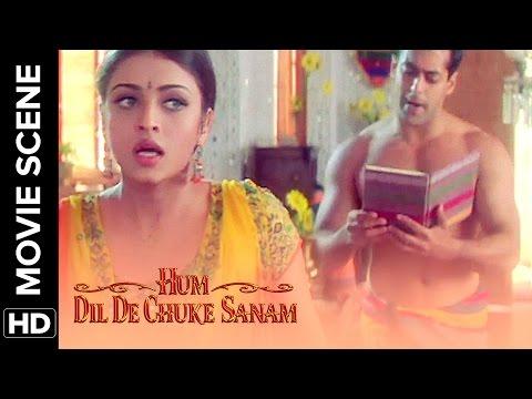 Aishwarya sees Salman in towel   Salman Khan, Aishwarya Rai   Hum Dil De Chuke Sanam   Movie Scene