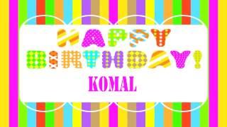 Komal birthday Wishes & Mensajes - Happy Birthday KOMAL