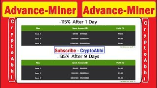 Advance-Miner !! 115% In 1 day !! #2nd Best Hyip !! U can Also Try !!