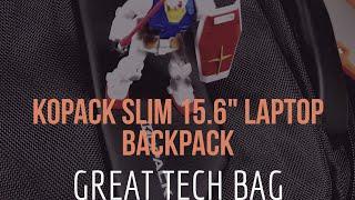 """Kopack Slim 15.6"""" Laptop Backpack (Minimalist under $30 Tech Bag)"""