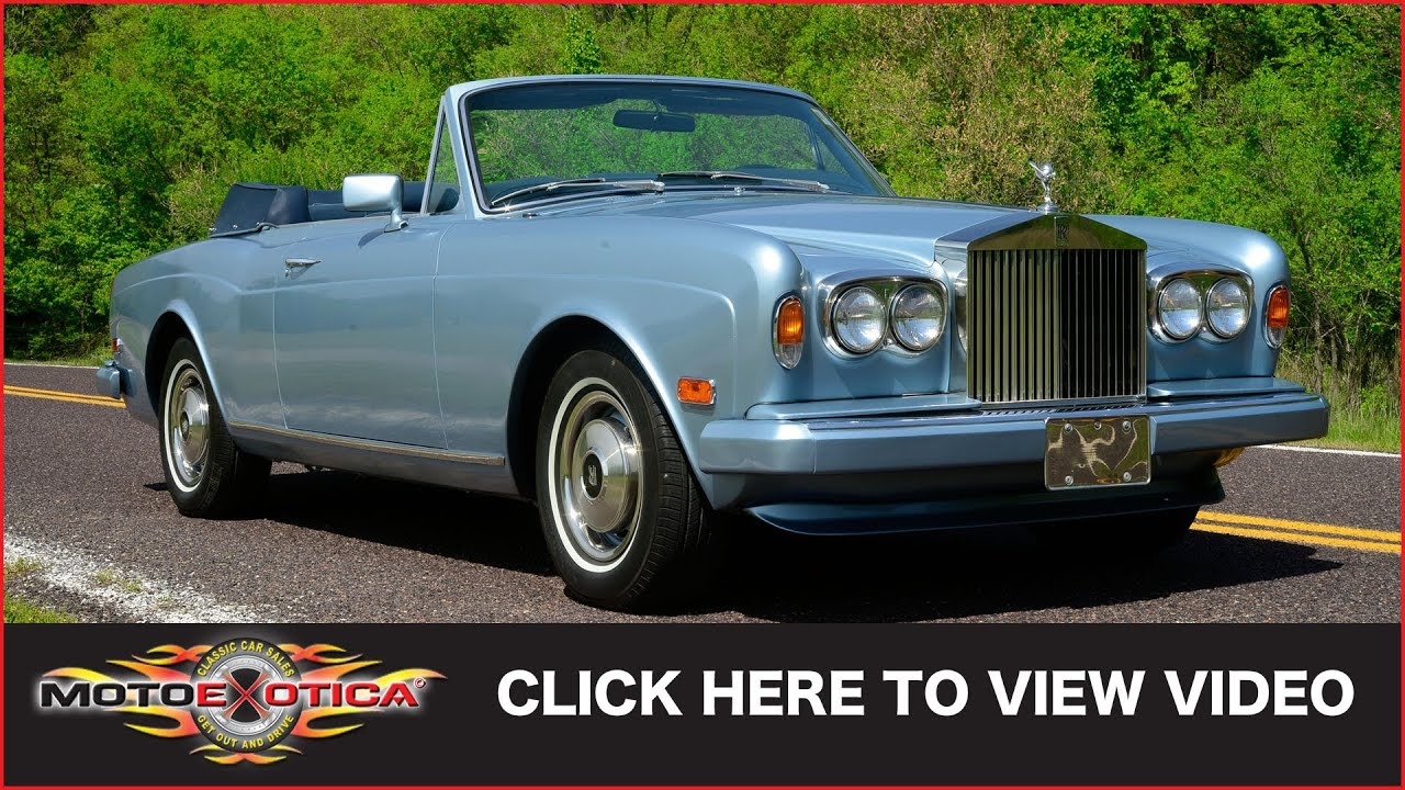 1984 Rolls Royce Corniche Convertible Sold Youtube