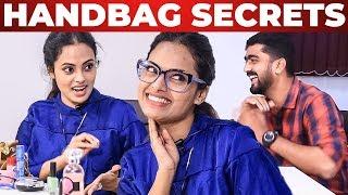 Yaaradi Nee Mohini Actress Yamuna Handbag Secrets Revealed by Vj Venkat | What's Inside the Handbag?
