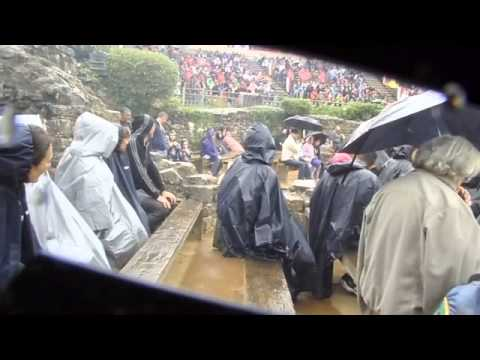 Puy du Fou bird show in the pouring rain