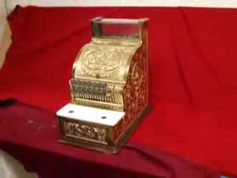 Antique National Cash Register Brass Model 313 Candy Store ...