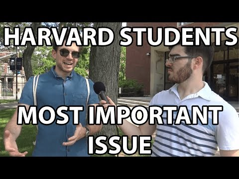 Asking Harvard Students About Their Most Important Issue as a Voter