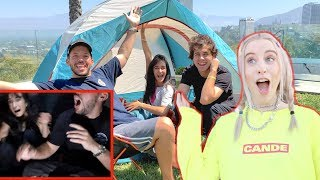 Camping Overnight in David Dobriks Backyard!!