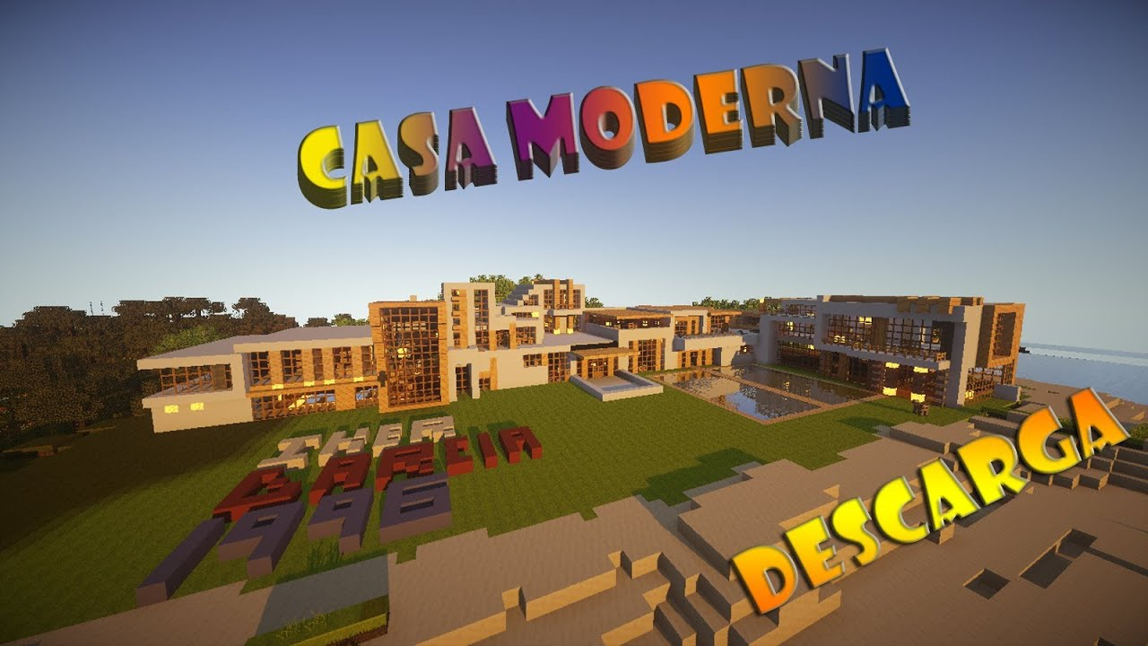 Minecraft casa moderna descarga download mansi n for Casa moderna gigante minecraft