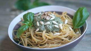 Vegan Basil Pesto with Lentil Spaghetti