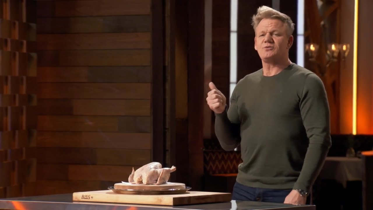 Download Gordon Ramsay Carves a Chicken Blindfolded | Masterchef