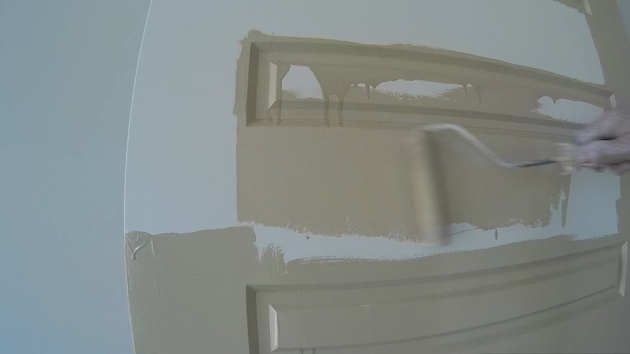 Simple painting with basic tools on Front door in Gloss Enamel & Simple painting with basic tools on Front door in Gloss Enamel - YouTube